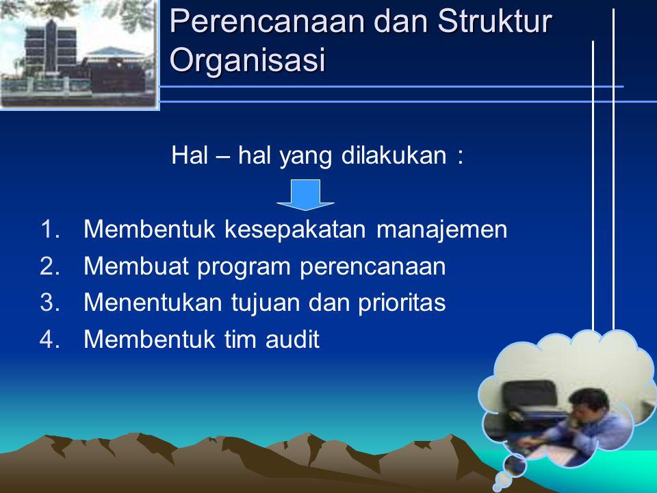 Perencanaan dan Struktur Organisasi