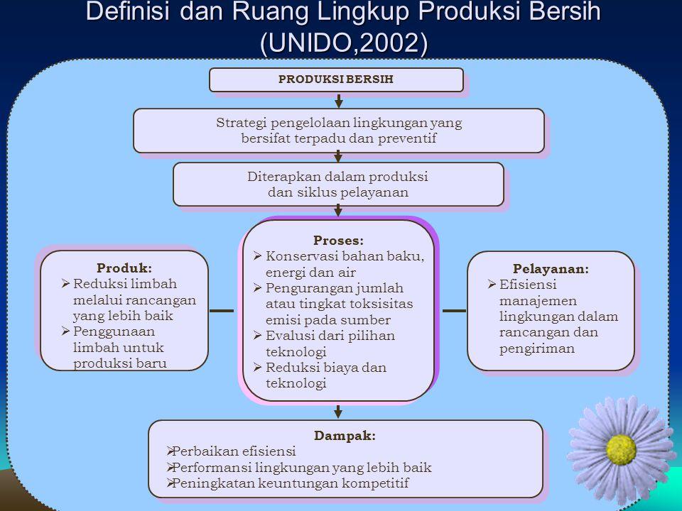 Definisi dan Ruang Lingkup Produksi Bersih (UNIDO,2002)