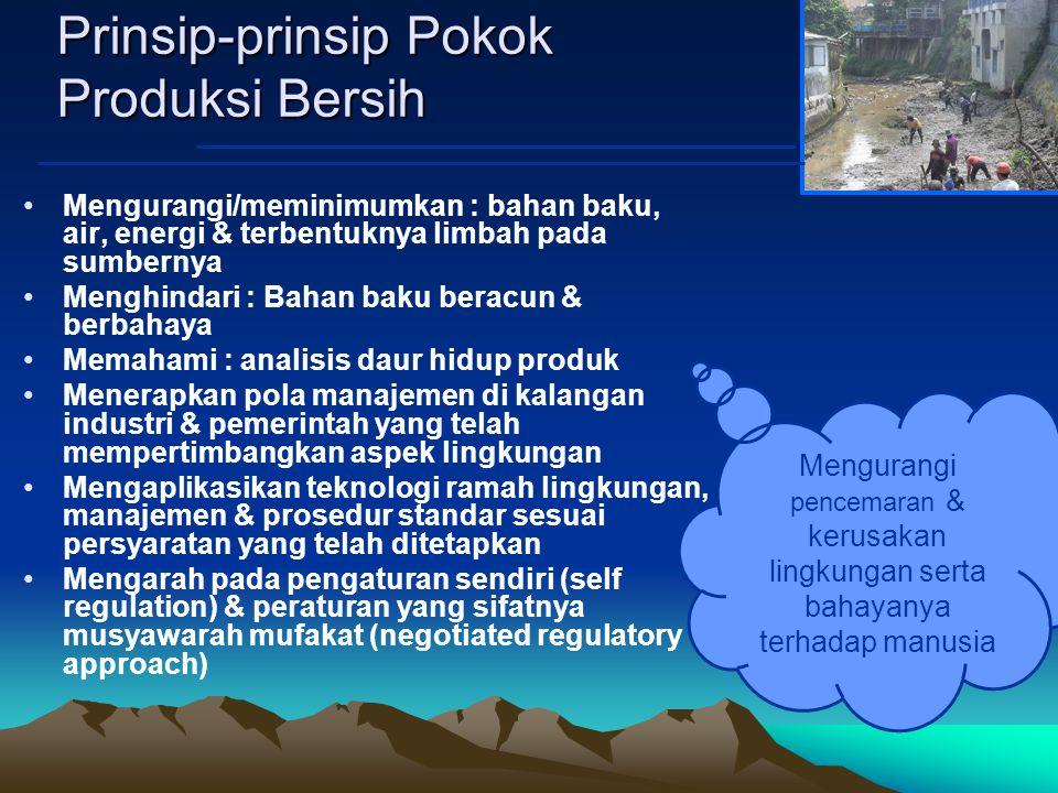 Prinsip-prinsip Pokok Produksi Bersih