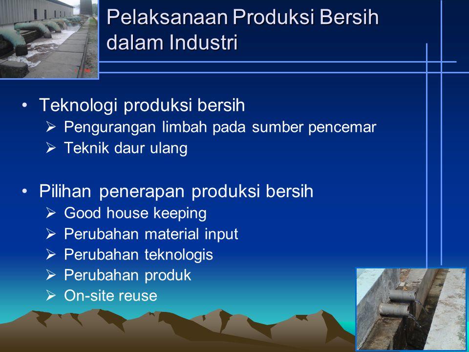 Pelaksanaan Produksi Bersih dalam Industri