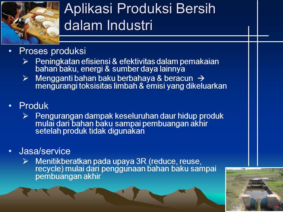 Aplikasi Produksi Bersih dalam Industri