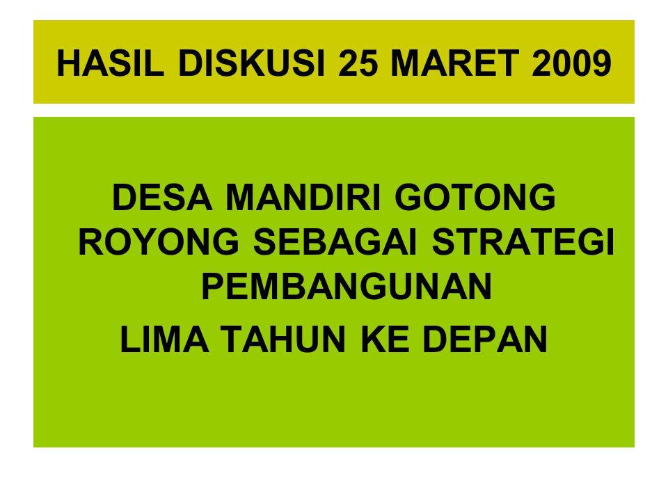 DESA MANDIRI GOTONG ROYONG SEBAGAI STRATEGI PEMBANGUNAN