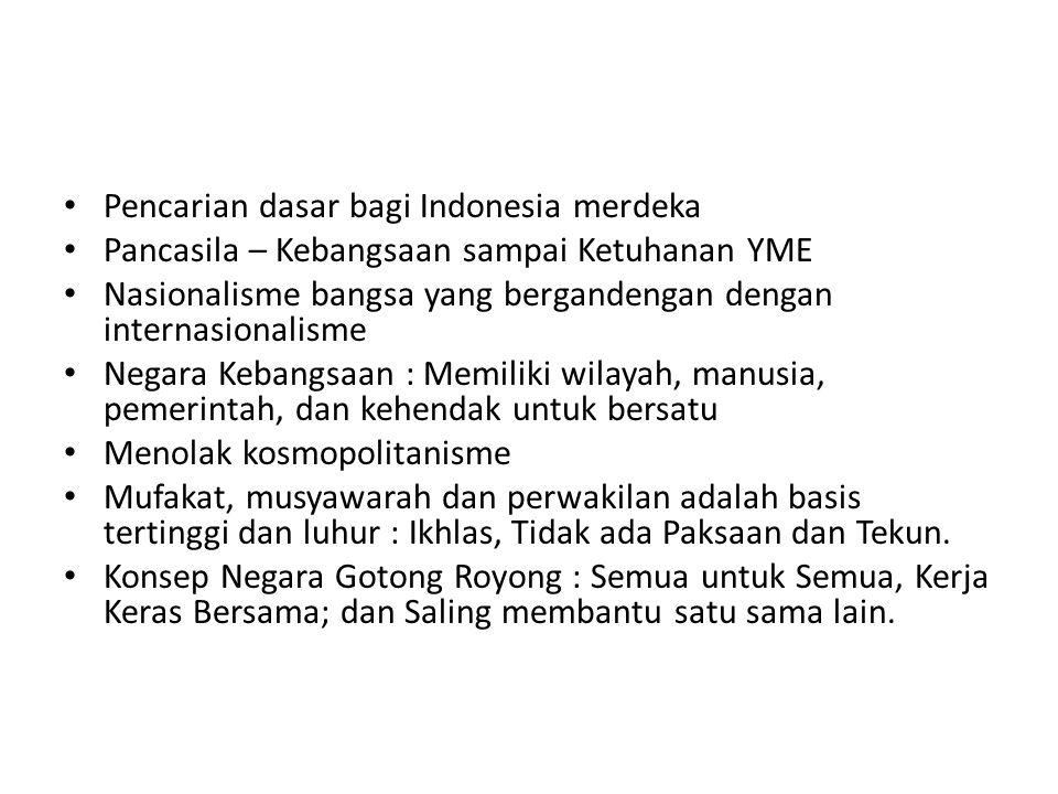 Pencarian dasar bagi Indonesia merdeka