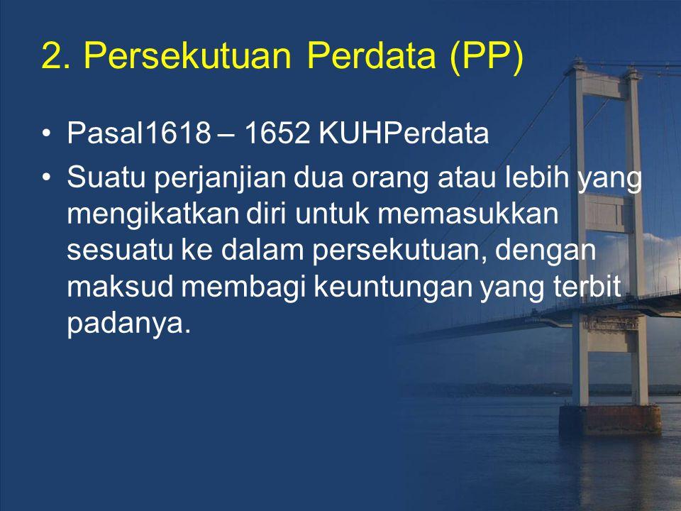 2. Persekutuan Perdata (PP)