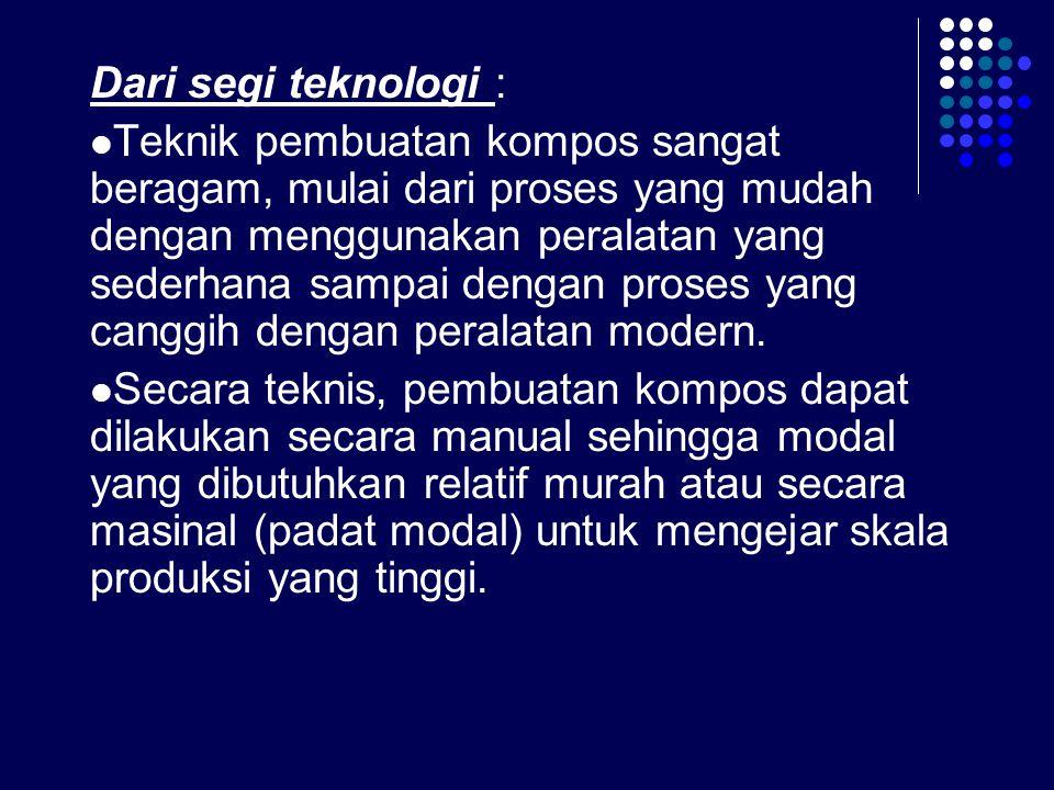 Dari segi teknologi :