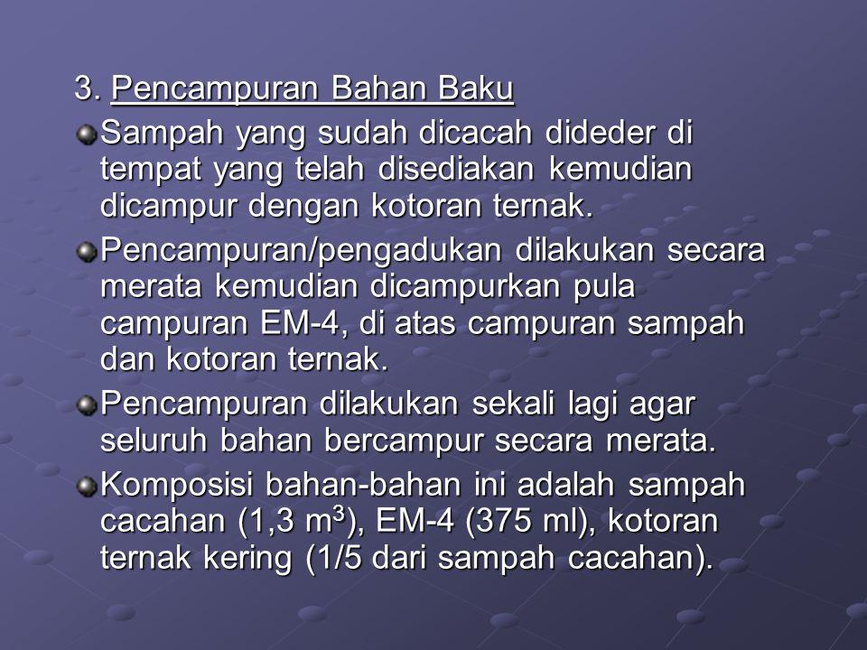 3. Pencampuran Bahan Baku