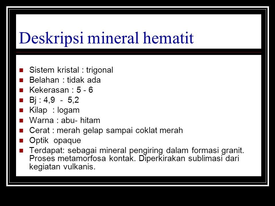 Deskripsi mineral hematit