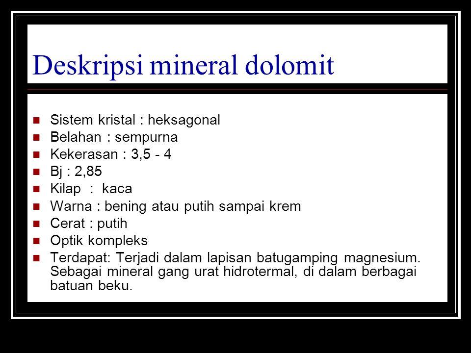 Deskripsi mineral dolomit