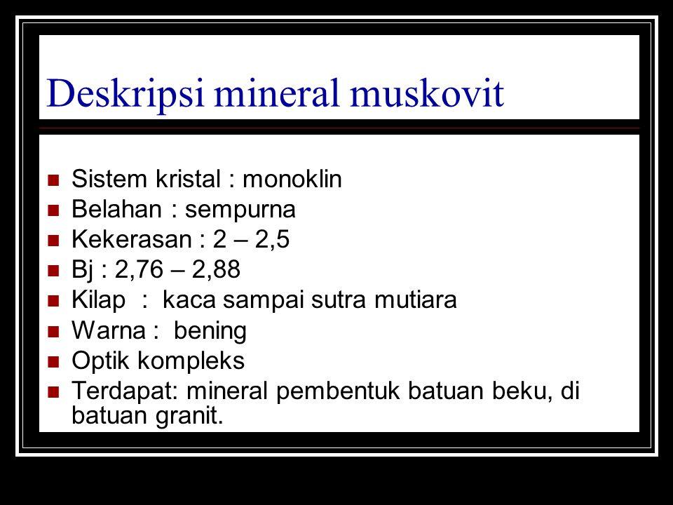 Deskripsi mineral muskovit