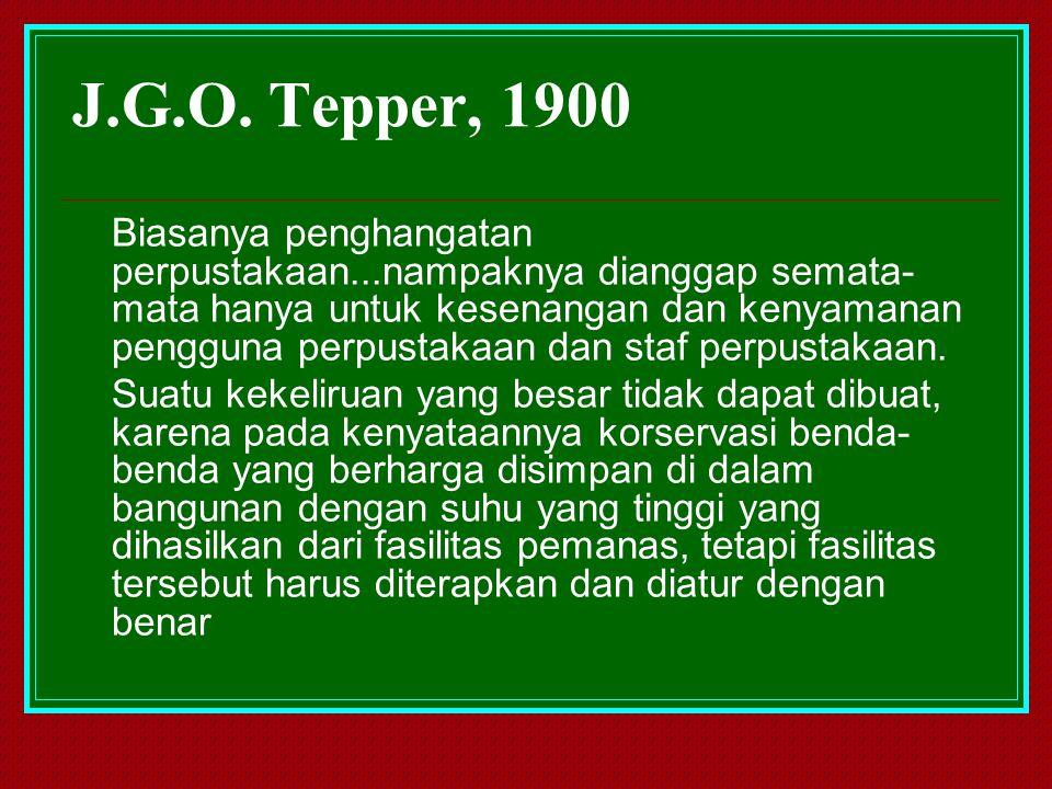 J.G.O. Tepper, 1900