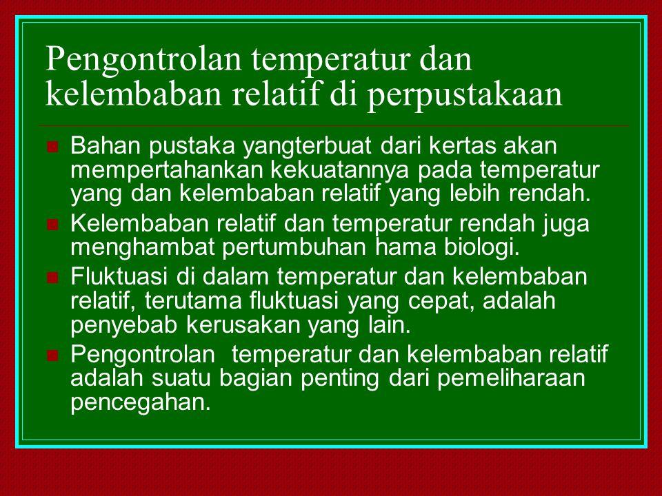 Pengontrolan temperatur dan kelembaban relatif di perpustakaan