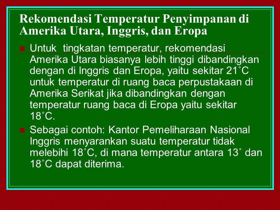 Rekomendasi Temperatur Penyimpanan di Amerika Utara, Inggris, dan Eropa
