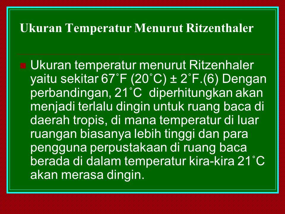 Ukuran Temperatur Menurut Ritzenthaler