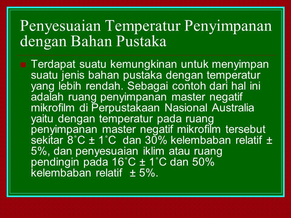 Penyesuaian Temperatur Penyimpanan dengan Bahan Pustaka