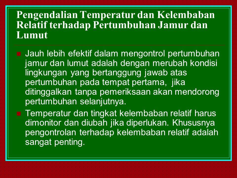 Pengendalian Temperatur dan Kelembaban Relatif terhadap Pertumbuhan Jamur dan Lumut