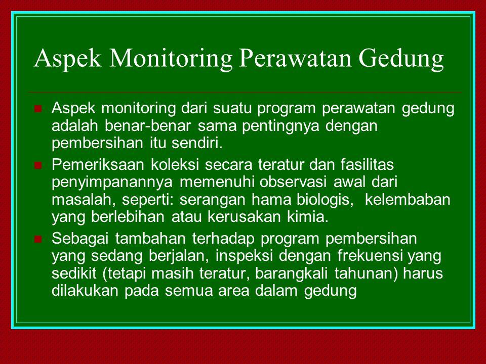Aspek Monitoring Perawatan Gedung