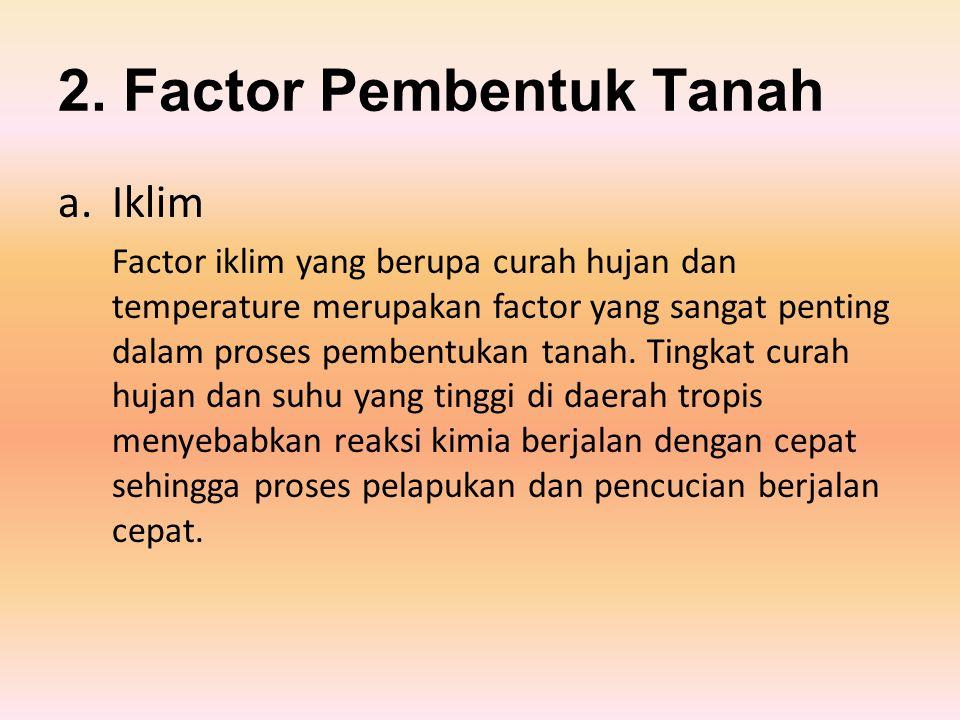 2. Factor Pembentuk Tanah