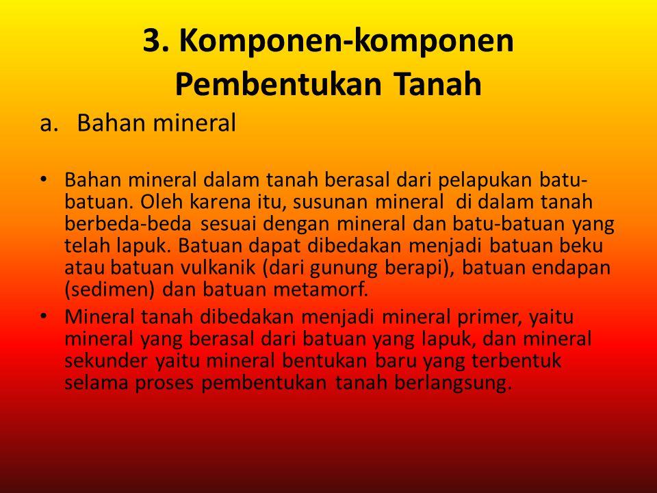 3. Komponen-komponen Pembentukan Tanah