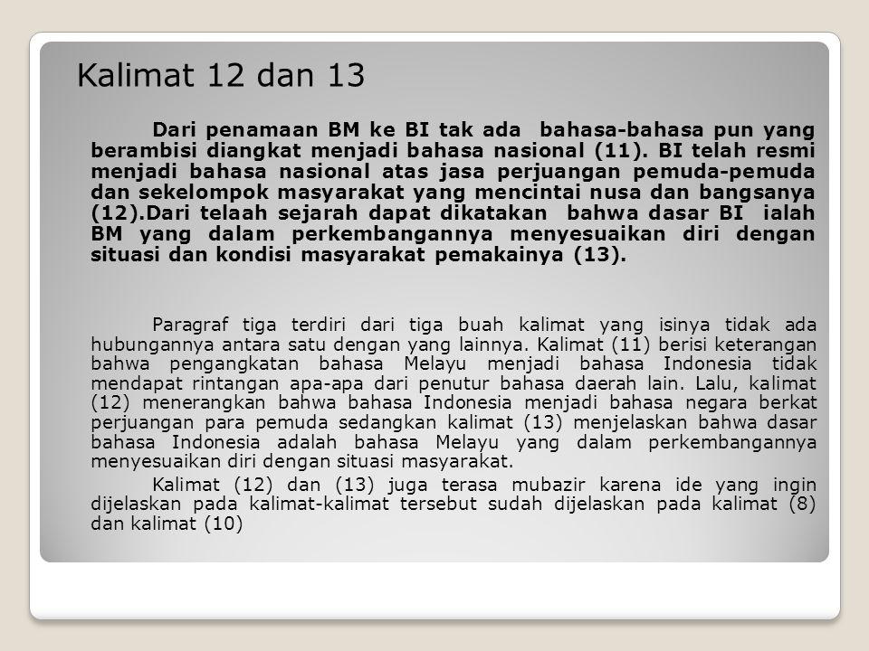 Kalimat 12 dan 13