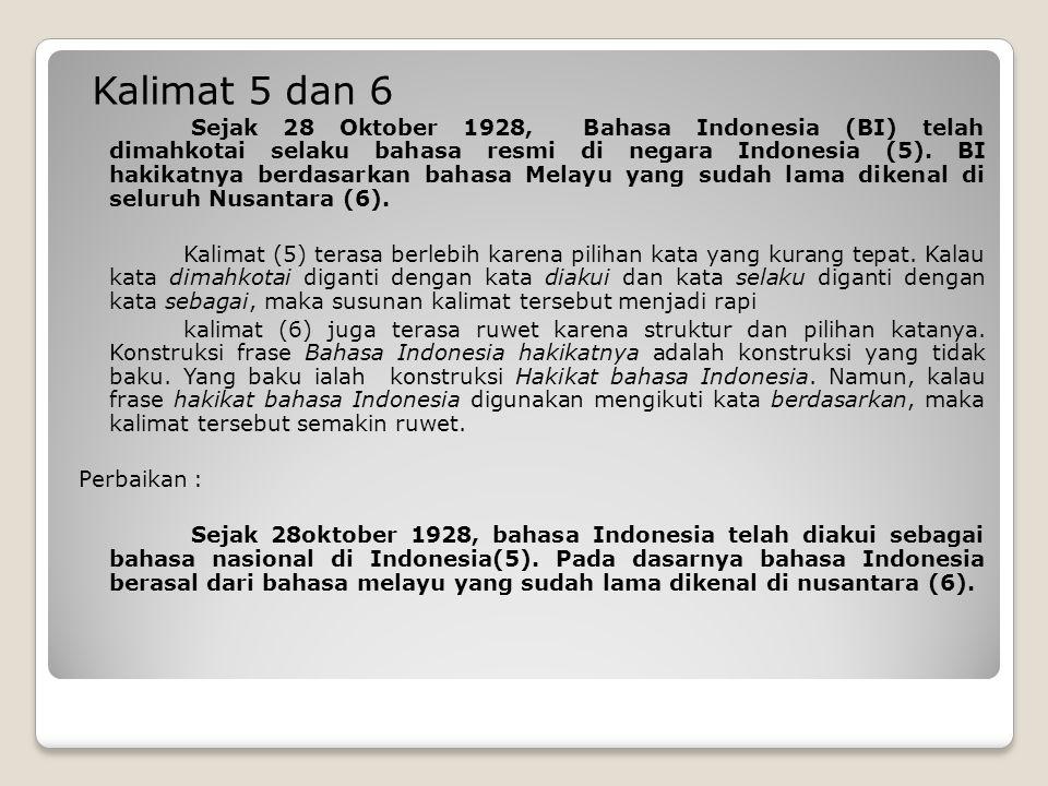 Kalimat 5 dan 6
