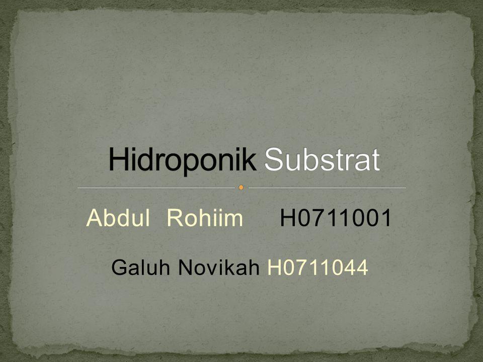 Abdul Rohiim H0711001 Galuh Novikah H0711044