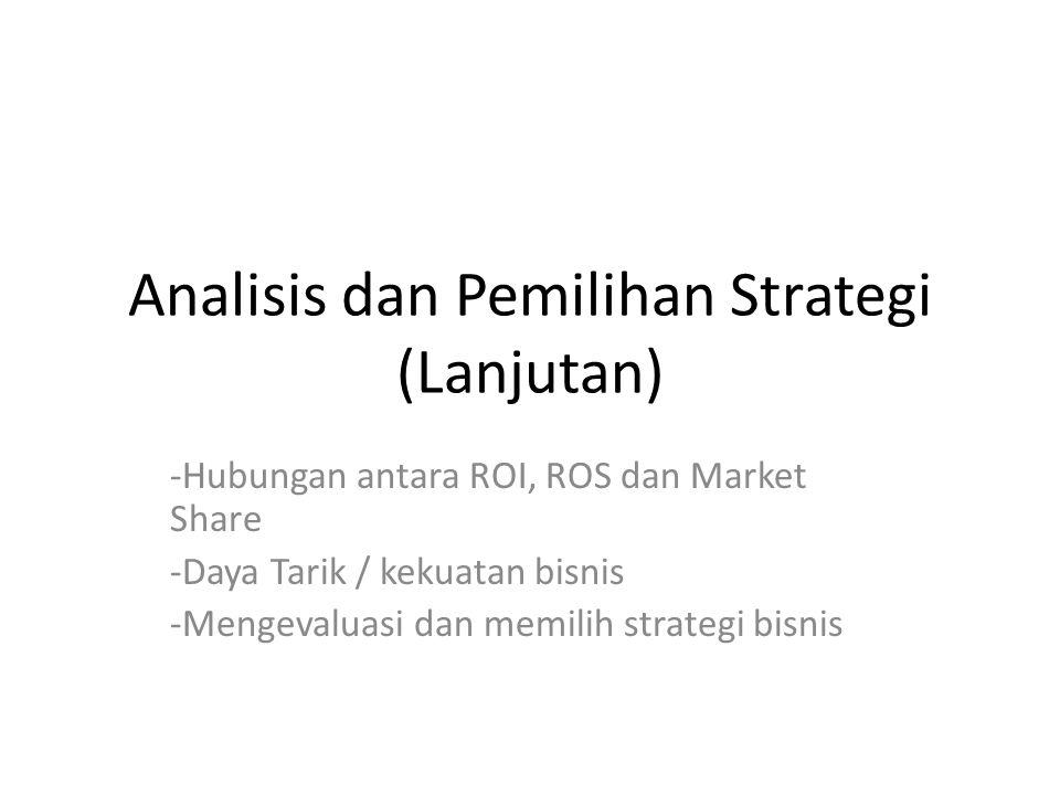 Analisis dan Pemilihan Strategi (Lanjutan)