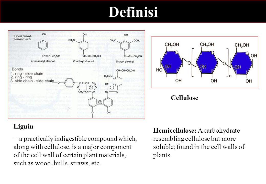 Definisi Cellulose Lignin