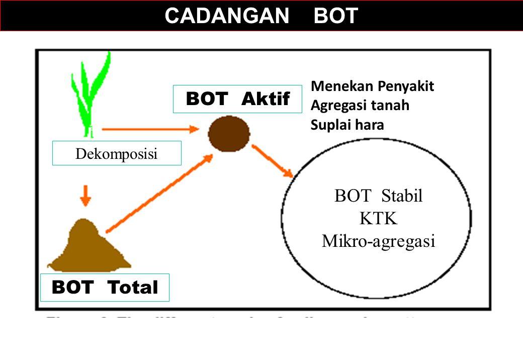 CADANGAN BOT BOT Aktif BOT Stabil KTK Mikro-agregasi BOT Total