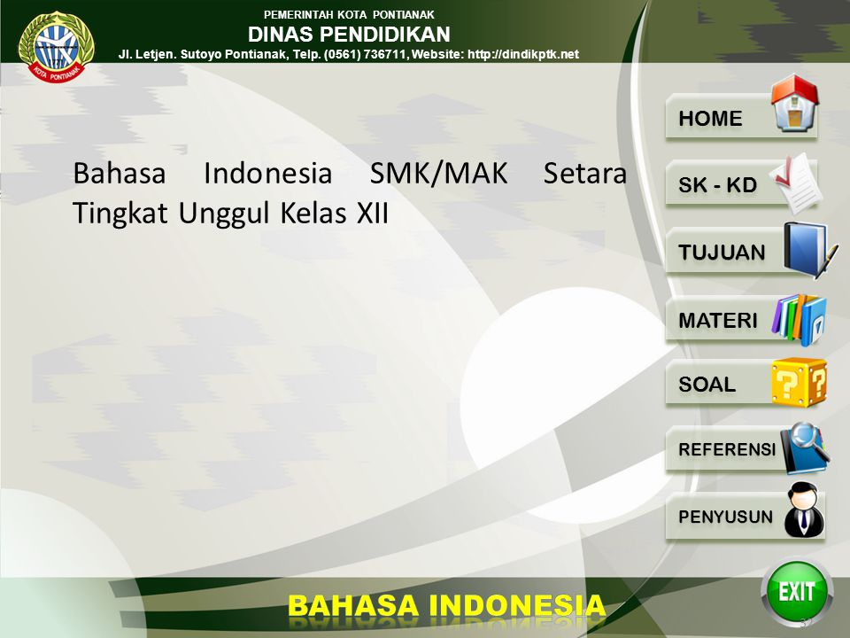 Bahasa Indonesia SMK/MAK Setara Tingkat Unggul Kelas XII