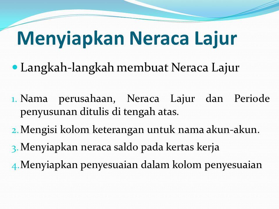 Menyiapkan Neraca Lajur