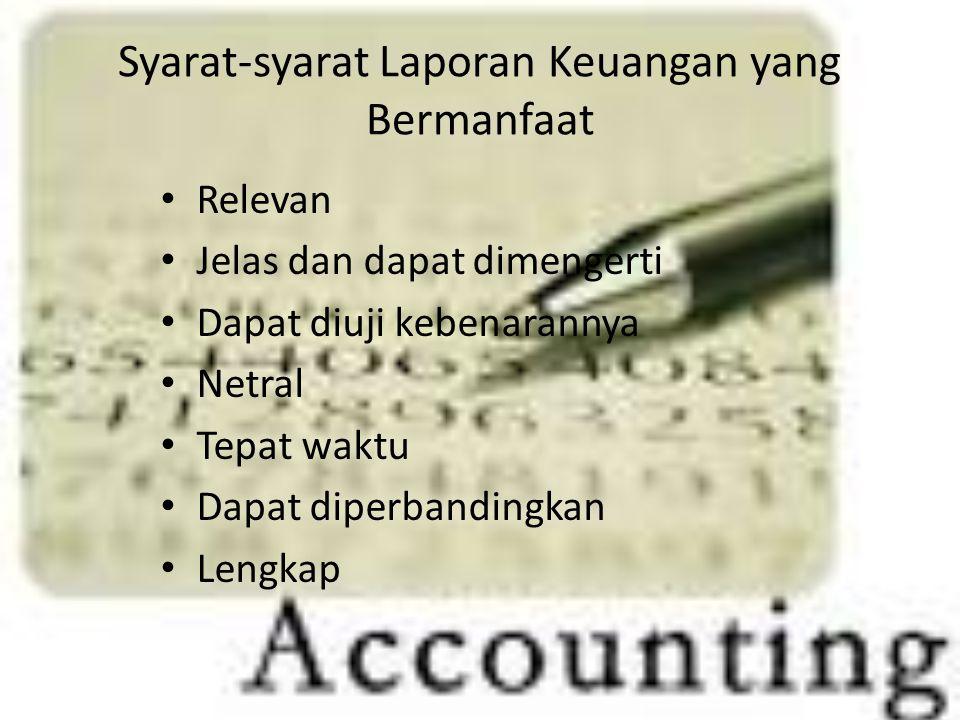 Syarat-syarat Laporan Keuangan yang Bermanfaat