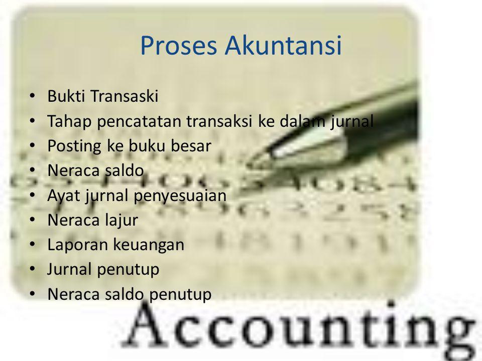 Proses Akuntansi Bukti Transaski
