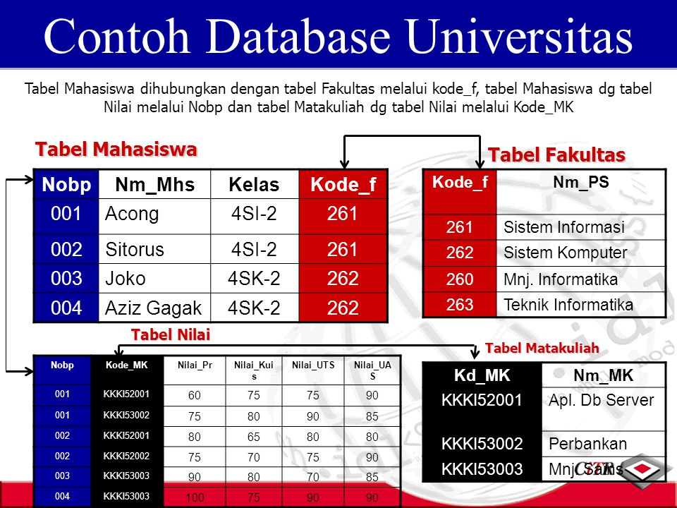Contoh Database Universitas