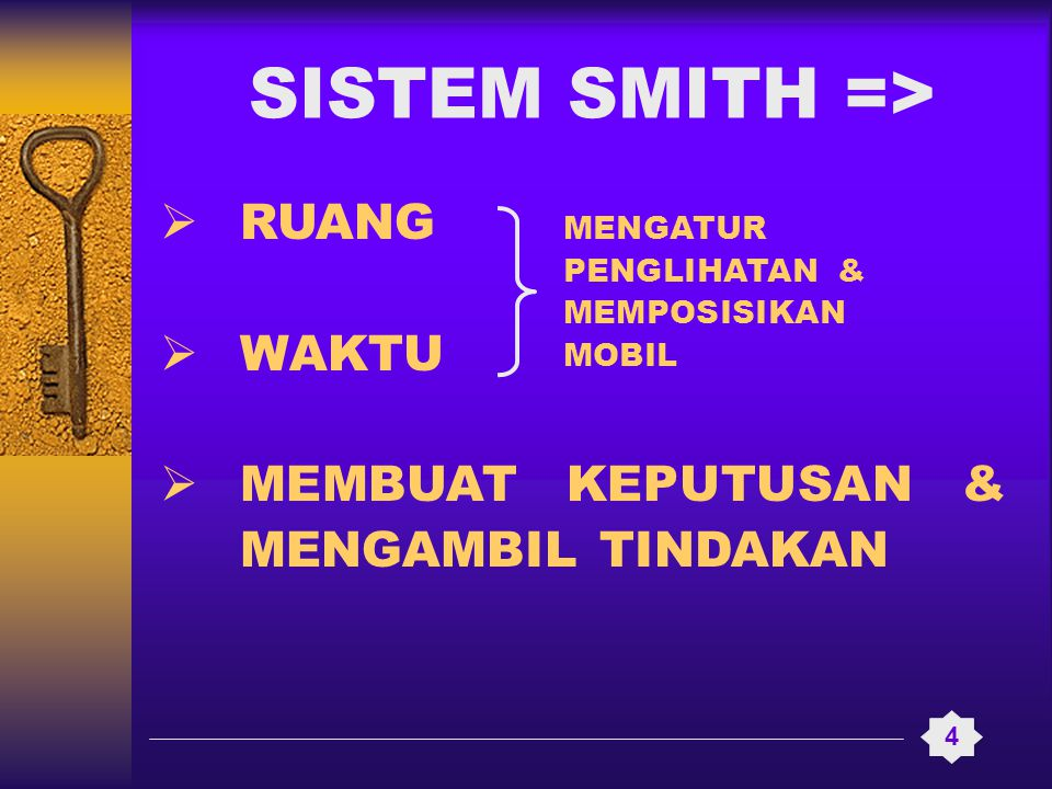 SISTEM SMITH => RUANG WAKTU MEMBUAT KEPUTUSAN & MENGAMBIL TINDAKAN
