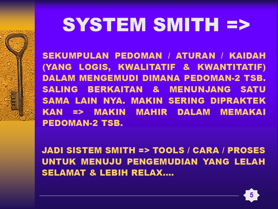 SYSTEM SMITH =>