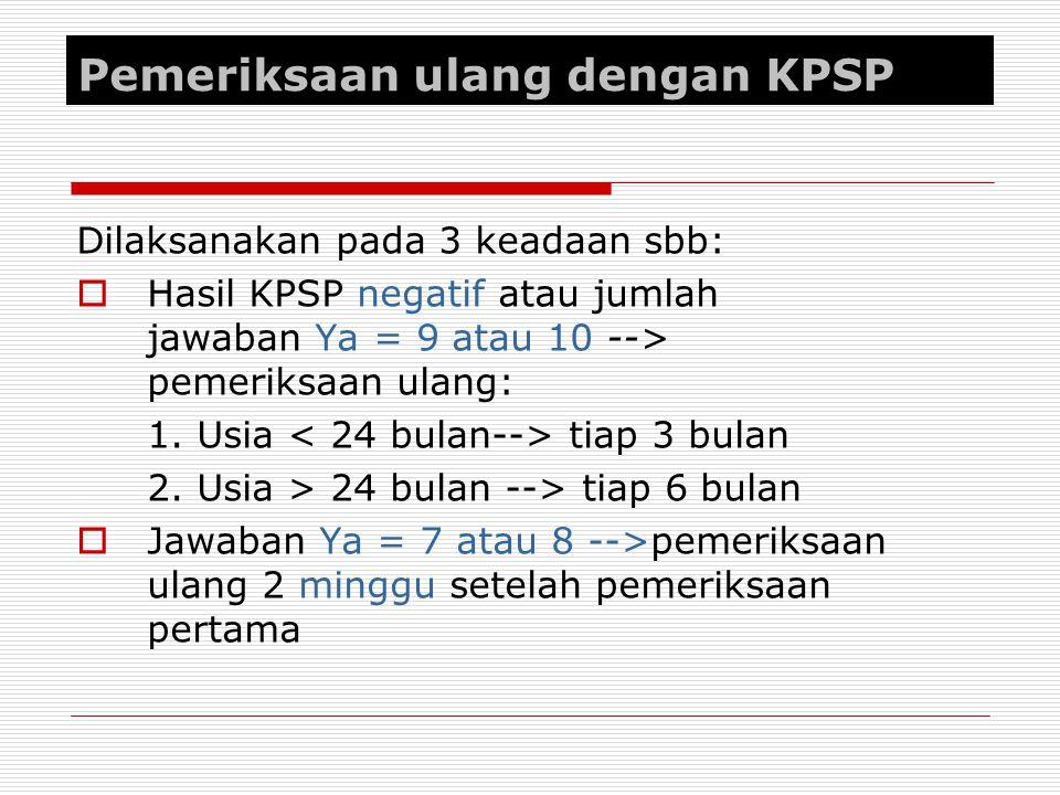 Pemeriksaan ulang dengan KPSP