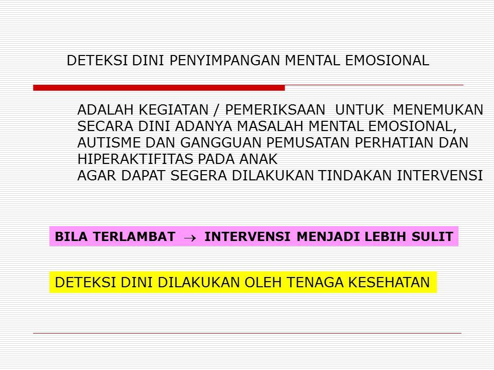 DETEKSI DINI PENYIMPANGAN MENTAL EMOSIONAL