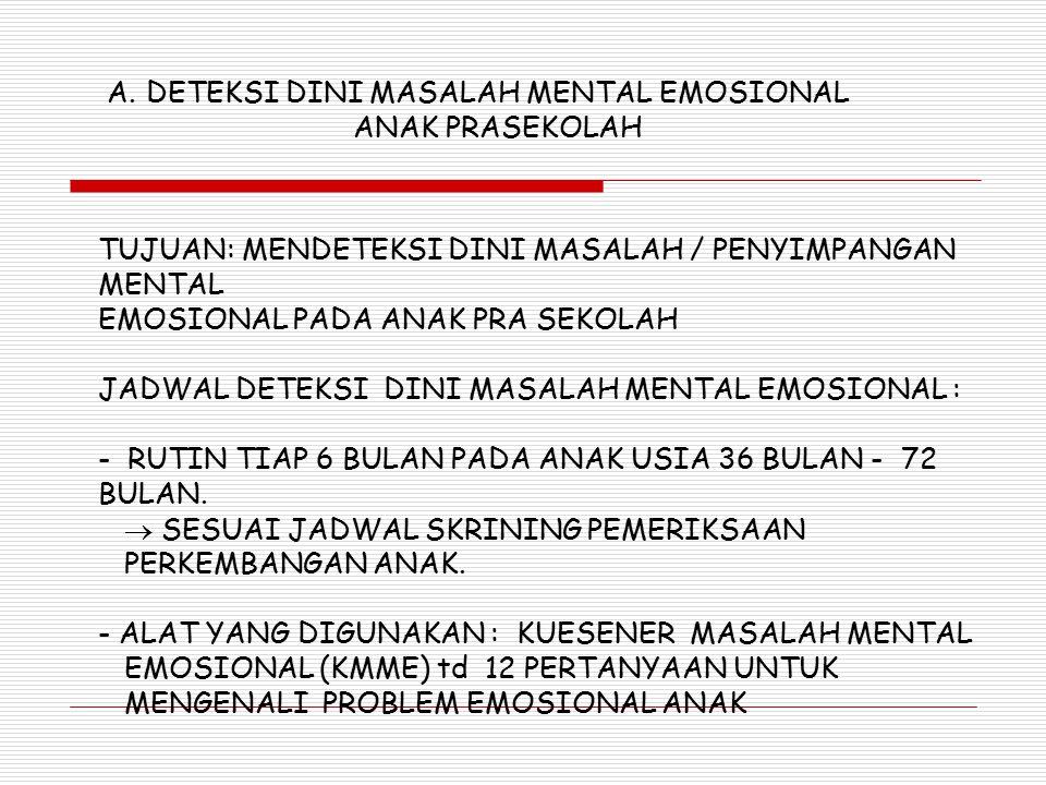 DETEKSI DINI MASALAH MENTAL EMOSIONAL