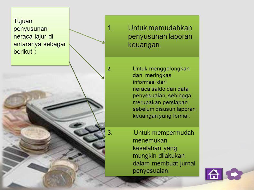 Untuk memudahkan penyusunan laporan keuangan.