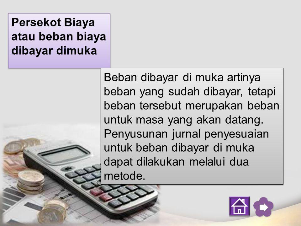 Persekot Biaya atau beban biaya dibayar dimuka