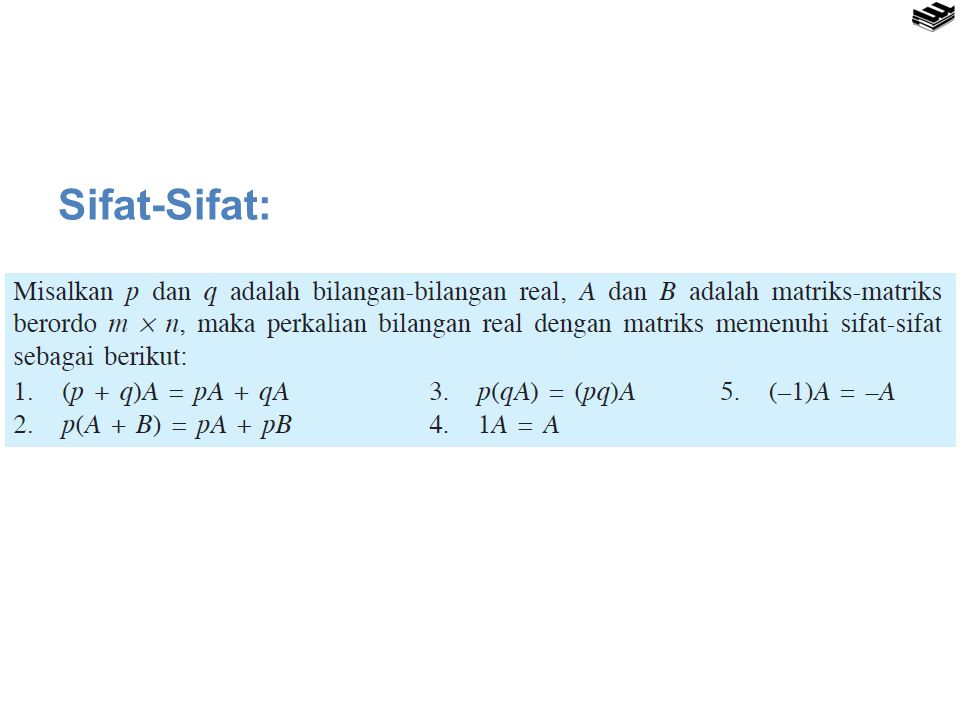 Sifat-Sifat: