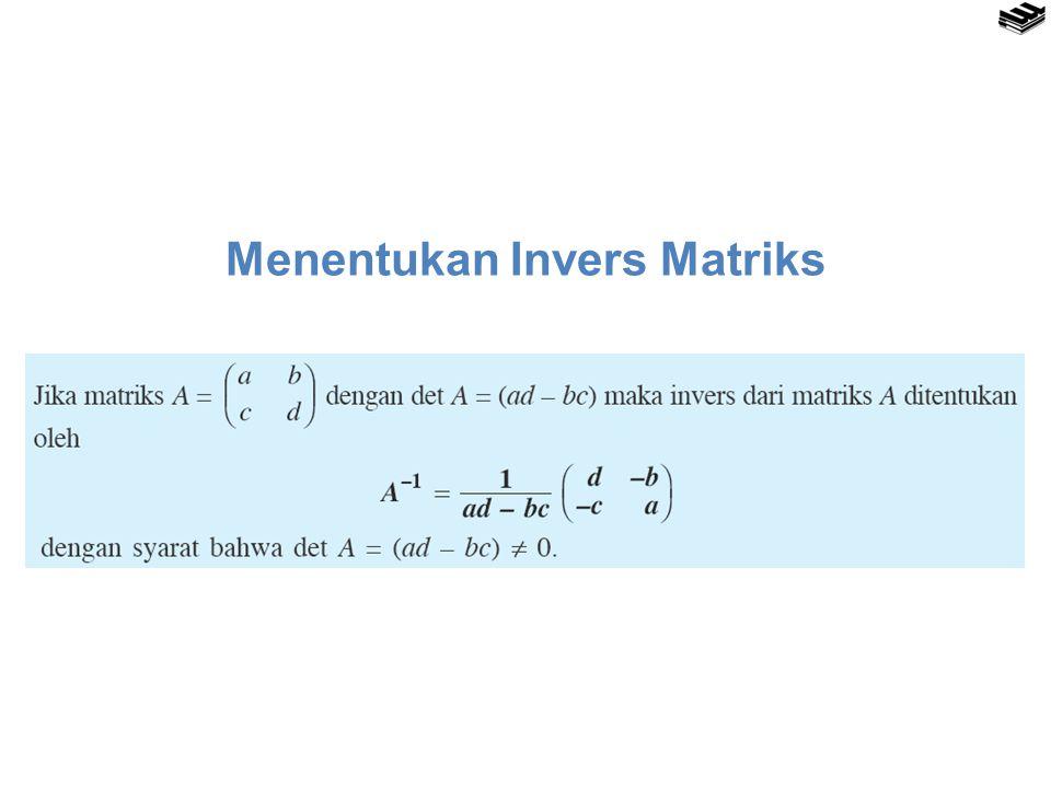 Menentukan Invers Matriks