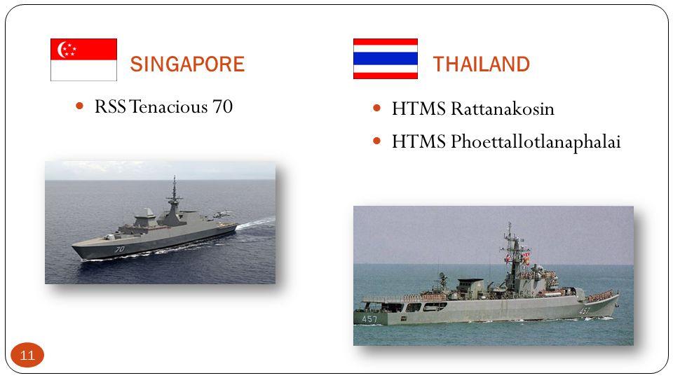 SINGAPORE THAILAND RSS Tenacious 70 HTMS Rattanakosin HTMS Phoettallotlanaphalai