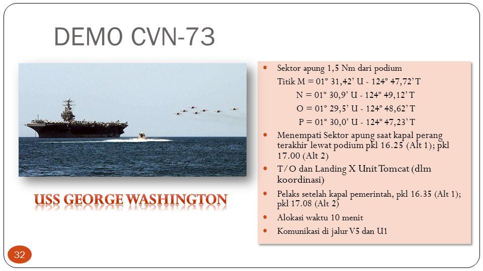 DEMO CVN-73 USS George washington