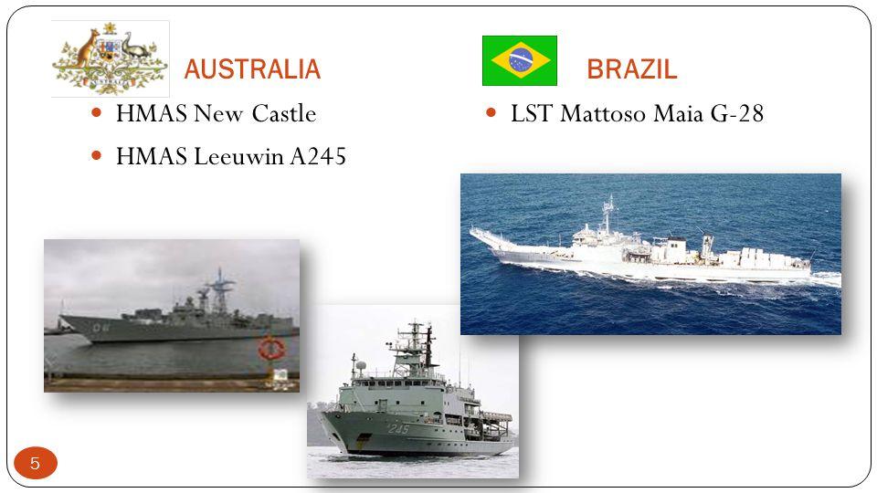 AUSTRALIA BRAZIL HMAS New Castle HMAS Leeuwin A245 LST Mattoso Maia G-28