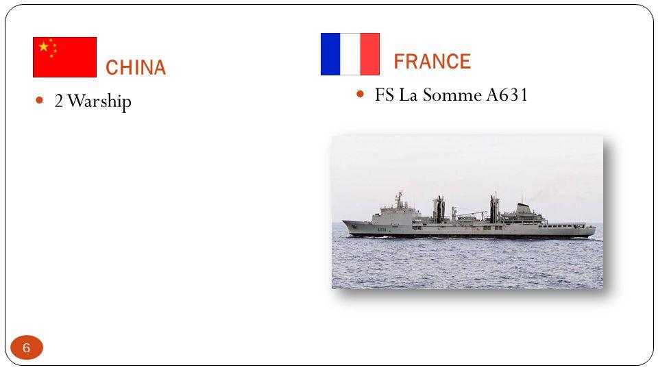 FRANCE CHINA FS La Somme A631 2 Warship
