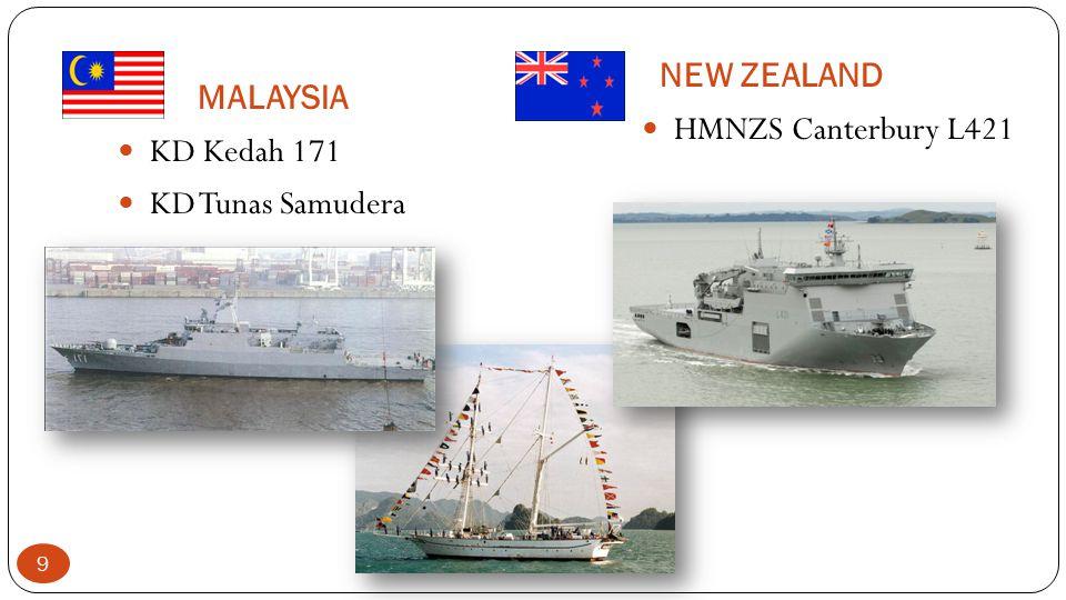 NEW ZEALAND MALAYSIA HMNZS Canterbury L421 KD Kedah 171 KD Tunas Samudera