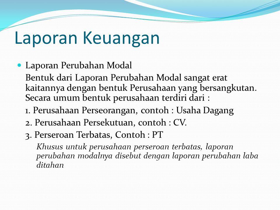 Laporan Keuangan Laporan Perubahan Modal