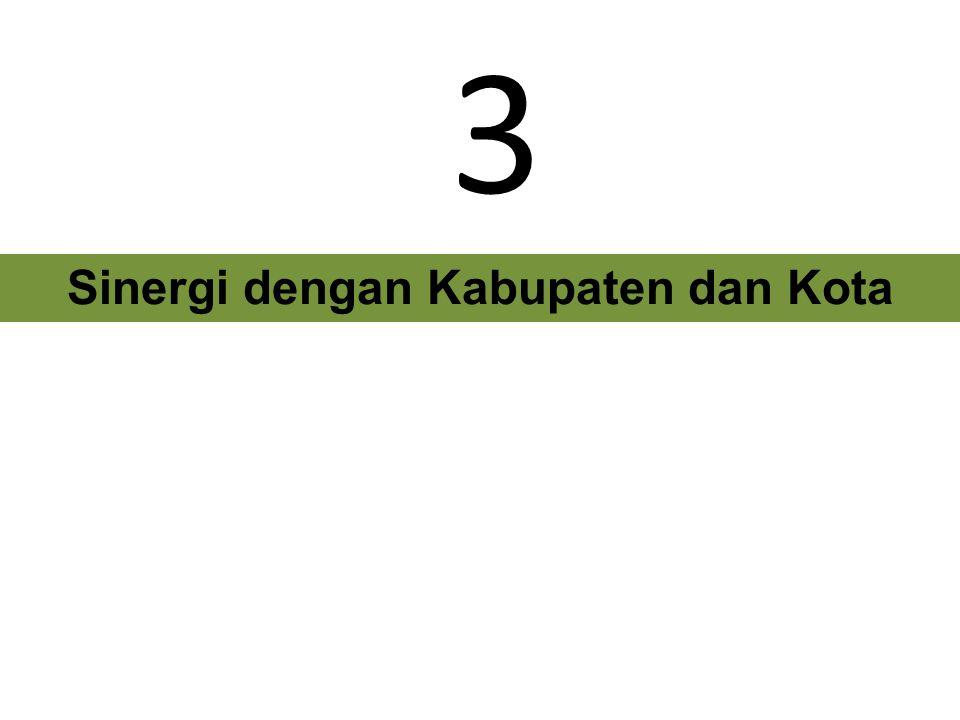 Sinergi dengan Kabupaten dan Kota
