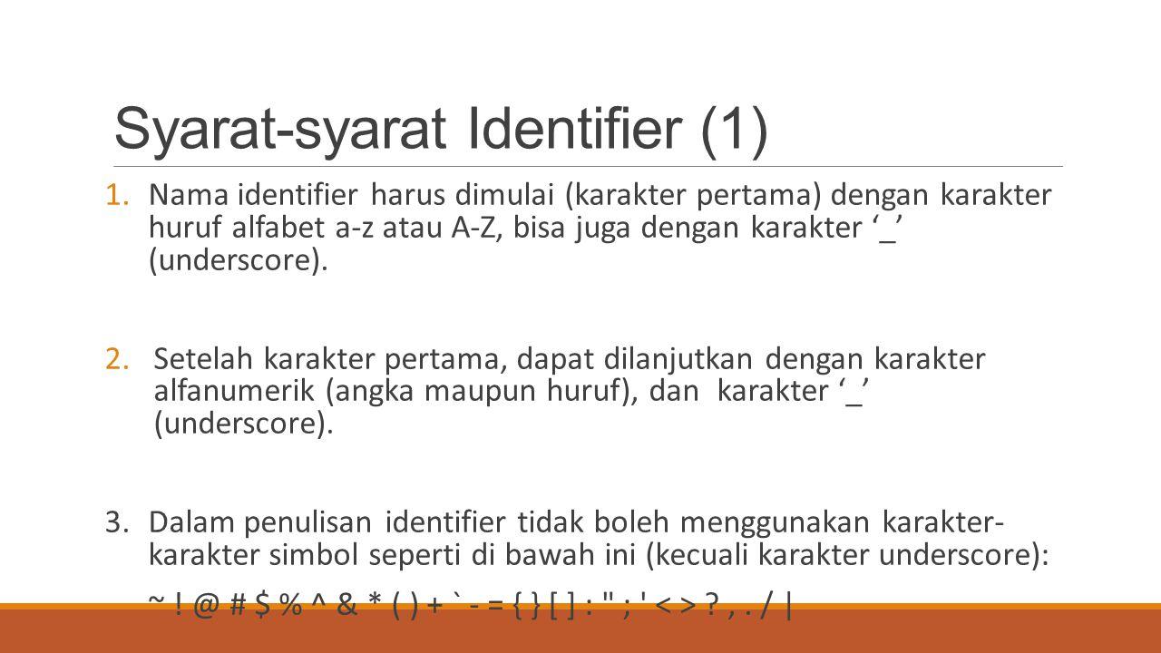 Syarat-syarat Identifier (1)